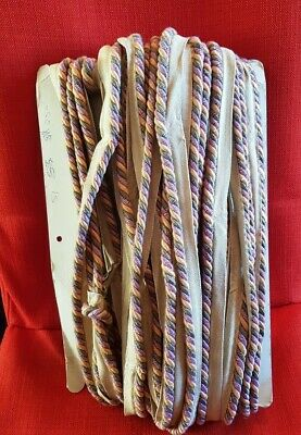 Rope Twist Embroidery Edging. Original On Card.36. 5 Yds • 4£