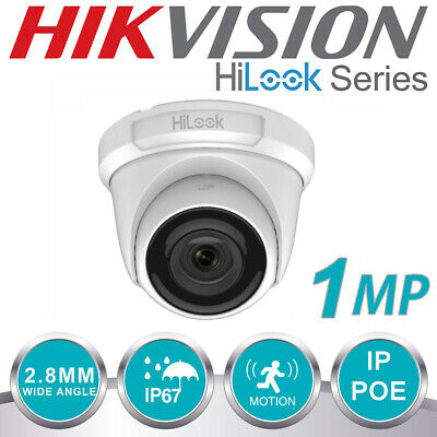 HIKVISION 1MP CCTV FIXED TURRET DOME CAMERA IP POE NETWORK OUTDOOR WHITE 2.8mm  • 21.99£