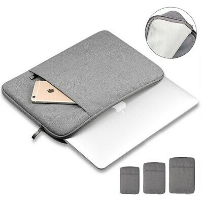 Laptop Bag Sleeve Case Carry Cover 2 Pockets For Apple Mac Book 11 13 15 Inch • 10.99£