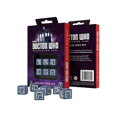 $ CDN18.79 • Buy Q-Workshop Doctor Who Roleplaying 6D6 Dice Set NEW
