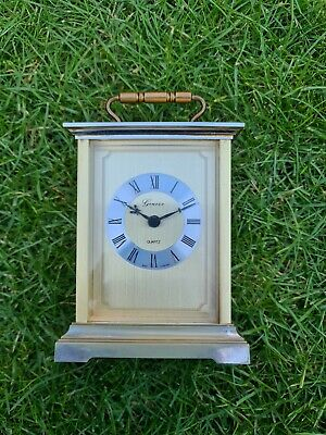 Geneve Quartz Brass Vintage Carriage Clock Germany • 14.50£