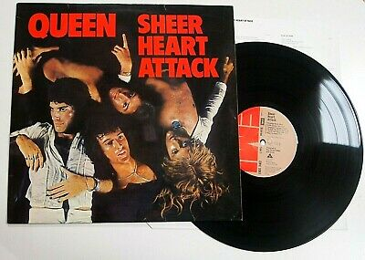 QUEEN - SHEER HEART ATTACK LP VINYL EX-EX Rare UK 1974 1st Press Album 3U/4U  • 29.99£