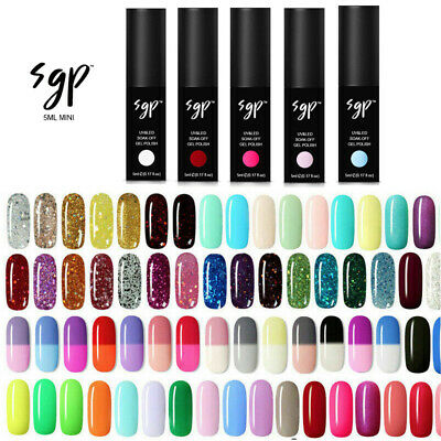 SGP® 5ml Mini UV LED Nail Gel Polish Soak Off Varnish Base Matte Top Colour Coat • 2.50£