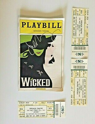 WICKED Signed Playbill Autographed Gershwin Theatre 5/18/05 • 18.99£