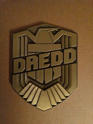 Dredd Badge Movie Prop Replica With Display Stand And Drawstring Bag • 5£