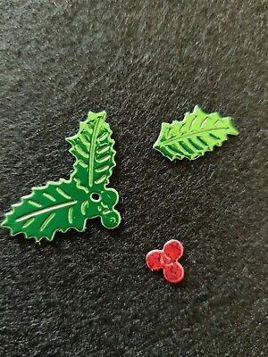Holly Leaves And Berry's Die Cuts  • 2.80£