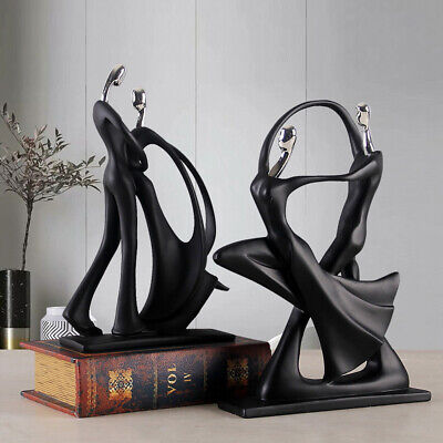 Abstract Dancing Couple Sculpture Decorative Statue Lovers Home Decor UK • 18.99£