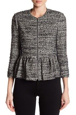 AU72.36 • Buy Rebecca Taylor Tweed Peplum Zip Up Women's Jacket, Size 0 $475