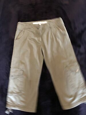 FAT FACE Khaki Green Cropped Combat / Cargo  Style Trousers Size 10 VGC • 7£