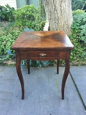 AU475 • Buy Antique Victorian Hall/ Occasional Table W Hidden 'envelope' Card / Games Table!