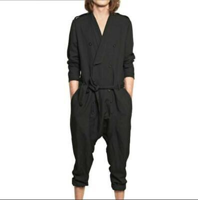 $75.98 • Buy Mens Fashion Jumpsuit Long Sleeve V Neck Overalls Casual Trousers Pants M-4XL