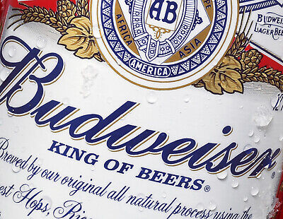 Vintage Retro BUDWEISER BEER Inspired Metal Bar Plaque Pub Shed Man Cave SIGN • 4.99£