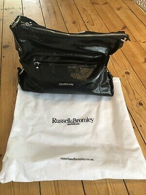 Russell & Bromley Ring Hobo Bag Black Patent Leather BNWT £275! • 99£