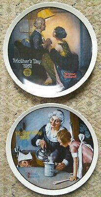 $ CDN15.47 • Buy TWO Norman Rockwell Limited Edition Mothers Day Plates 1980 & 1981