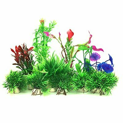 PietyPet Artificial Aquatic Plants, 16 Pcs Small Aquarium Plants Artificial Fish • 16.19£
