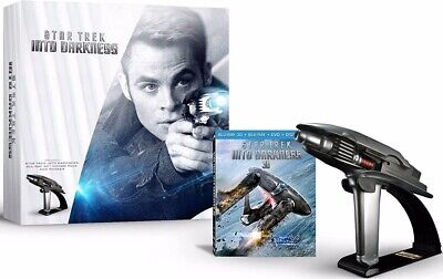 AU262.16 • Buy SEALED Star Trek Into Darkness Blu-Ray 3D & QMx Phaser Prop Limited Edition Set