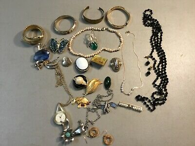 $ CDN14.03 • Buy MANY SIGNED Lot Of Vintage Jewelry Sarah Cov BSK Marvella SOME STERLING, 27 PCS