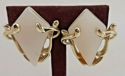 Vintage Costume Jewellery - Pair Of 60's Thermoset Clip On Earrings • 9.99£