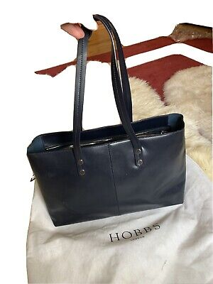 Hobbs Navy Blue Shoulder Leather Bag • 19£