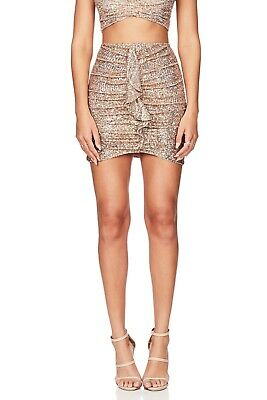£93.44 • Buy Love Nookie Galaxy Skirt Sequin Gold Size Medium Sold Out RETAIL 255$