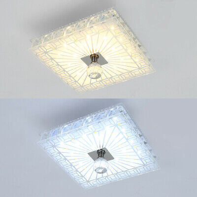 £16.98 • Buy Square Gorgeous LED Crystal Ceiling Down Light Panel Wall Kitchen Bathroom Lamp