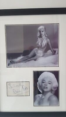 Diana Dors Genuine Hand Signed 20x15 Inch Proffesional Framed Display Coa • 99£