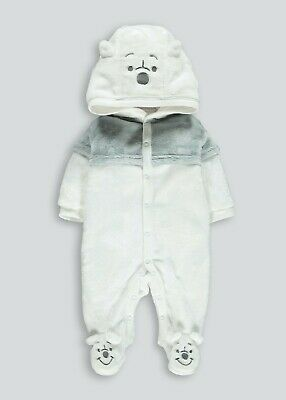 BNWT Baby Unisex Winnie The Pooh All IN One Fleece Matalan 0 - 3 Months (BW) • 4.79£