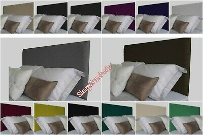 Top Quality Flat Squarw Bed Headboard In Turin Fabric S Double King Sk 20  Inch • 27.99£
