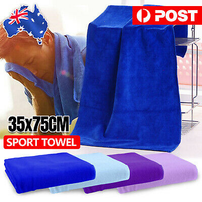 AU4.95 • Buy Quick Drying Sport Gym Towel Absorbent Microfibre Micro Fiber Sport Travel OZ