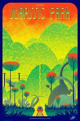 £373.64 • Buy Jurassic Park By Kevin Tong - Rare Sold Out Mondo Print 2012