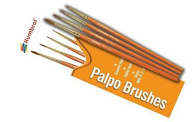 Humbrol AG4250 Palpo Paint Brush Pack- Sizes Included 000, 0, 2, 4mm • 7.99£