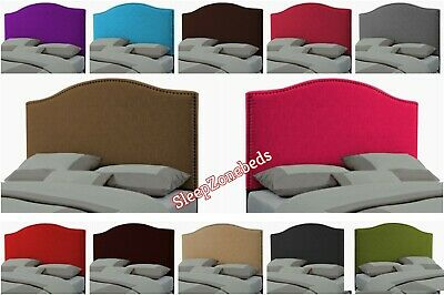 Chenille Fabric Dewsbury  Bed Headboard 2FT 3FT 4FT 5FT 6FT Height 20  Inch Uk • 31.99£