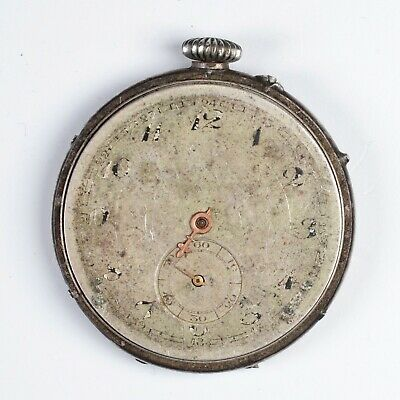 Remontoir Cylindre 10 Jewels Pocket Watch 40,8 Mm - Da Riparare To Repair • 43.63£