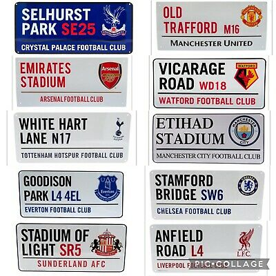 Premier Football Team Large Metal Street Road Signs Official Licensed Product • 9.79£