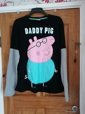 Men's Size XL Daddy Pig From Peppa Pig Top • 2£