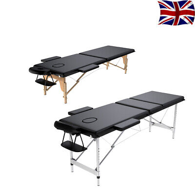 Portable Folding Massage Table - Beauty Salon Tattoo Therapy Couch Bed New • 64.99£