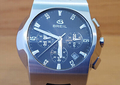 Mens Breil Milano One Black Chronograph 100m Black Silicone Sports Watch • 16£