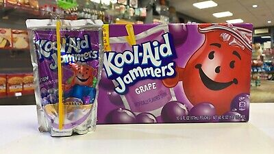 Kool Aid Jammers Box Of 10 Grape (USA Import) 10 X 6floz Pouches • 14.99£