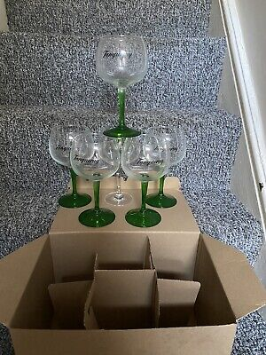 5 X Tanqueray Gin Glasses & 1 Fever Tree New Stunning Design. Pub Bar Job Lot • 18.95£