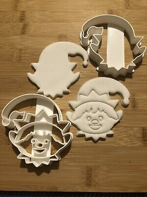 £8.50 • Buy Elf  Christmas Set Of 2 Cookie Cutter Biscuit, Pastry, Fondant, Bread Cutter