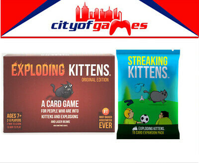 AU52.95 • Buy Exploding Kittens Original Edition & Exploding Kittens Expansion Card Game New