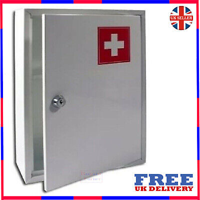 Medical First Aid Cabinet Wall Mounted Lockable Medicine Kit Emergency Box • 14.45£