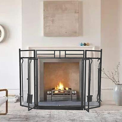 £82.40 • Buy Fire Guard Safety Child Kid Fireplace Stove Metal Fire Screen Household Supplies