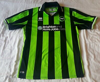 Brighton And Hove Albion Away Kit Shirt 2011-13 Size XXXL Green And Black • 24.99£