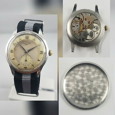 $ CDN420.08 • Buy Longines Vintage Watch Small Seconde 12.68Z 17 Jewels All Stainless Steel 1950'S