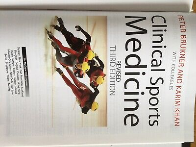Clinical Sports Medicine Book And CD (3rd Ed.) Brukner And Khan • 20£