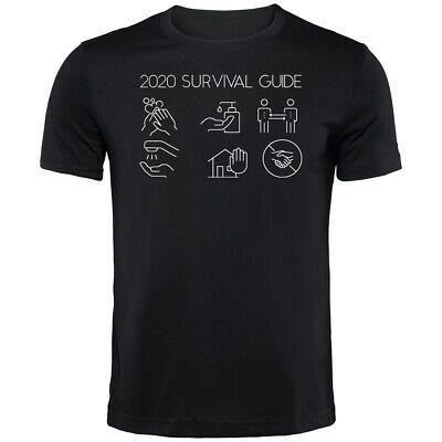 2020 Survival Guide Corona T-Shirt | Funny Novelty Printed Clothing Secret Santa • 9.99£