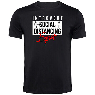 Introvert Social Distance Champion T-Shirt | Funny Printed Clothing Secret Santa • 9.99£