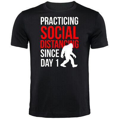 Social Distancing Since Day 1 T-Shirt | Funny Printed Clothing Secret Santa • 9.99£