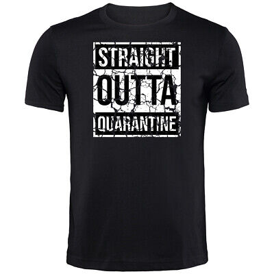Straight Outta Quarantine Corona T-Shirt | Funny Printed Clothing Secret Santa • 9.99£